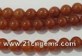 CAJ352 15.5 inches 8mm round red aventurine beads wholesale