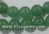 CAJ405 15.5 inches 14mm round green aventurine beads wholesale