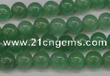 CAJ602 15.5 inches 8mm round A grade green aventurine beads