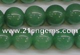 CAJ605 15.5 inches 14mm round A grade green aventurine beads