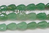 CAJ638 15.5 inches 8*10mm faceted teardrop green aventurine beads