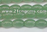 CAJ645 15.5 inches 8*12mm rice green aventurine beads