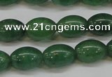 CAJ647 15.5 inches 10*14mm rice green aventurine beads