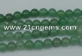 CAJ71 15.5 inches 6mm round green aventurine beads wholesale