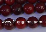 CAJ753 15.5 inches 10mm round apple jasper beads wholesale