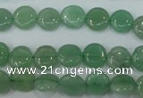CAJ80 15.5 inches 10mm flat round green aventurine beads wholesale