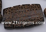 CAL20 14.5 inches 42*59mm carved flat drum agalmatolite beads