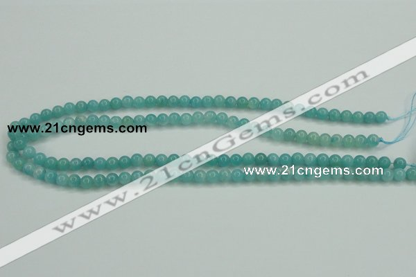 CAM134 15.5 inches 6mm round amazonite gemstone beads wholesale