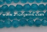CAM1431 15.5 inches 6mm faceted nuggets dyed amazonite gemstone beads