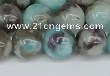 CAM1484 15.5 inches 12mm round Madagascar black amazonite beads