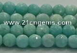 CAM1521 15.5 inches 6mm faceted round natural peru amazonite beads