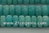 CAM1602 15.5 inches 5*8mm rondelle natural peru amazonite beads