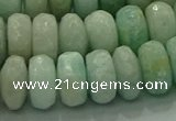 CAM1614 15.5 inches 8*12mm faceted rondelle peru amazonite beads