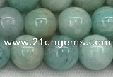 CAM1682 15.5 inches 8mm round natural amazonite beads wholesale