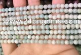 CAM1720 15.5 inches 4mm round amazonite beads wholesale