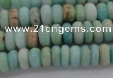 CAM328 15.5 inches 4*8mm rondelle natural peru amazonite beads