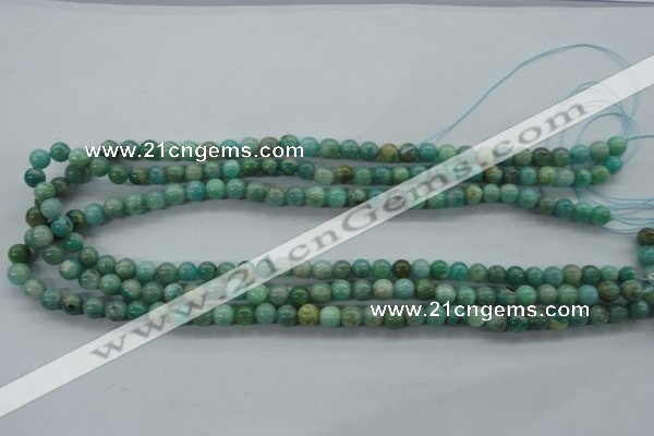 CAM521 15.5 inches 6mm round mexican amazonite gemstone beads