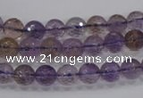 CAN08 15.5 inches 6mm faceted round natural ametrine gemstone beads