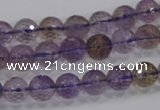 CAN09 15.5 inches 8mm faceted round natural ametrine gemstone beads