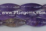 CAN178 15.5 inches 12*30mm rice natural ametrine gemstone beads