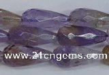 CAN180 15.5 inches 12*25mm faceted teardrop natural ametrine beads