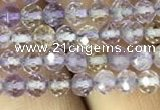 CAN210 15.5 inches 4mm round faceted ametrine beads wholesale