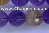CAN227 15.5 inches 11mm faceted round ametrine beads wholesale