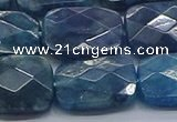 CAP398 15.5 inches 13*18mm faceted rectangle apatite gemstone beads