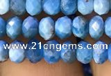 CAP616 15.5 inches 3*5mm faceted rondelle apatite gemstone beads