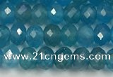 CAP623 15.5 inches 3*4mm faceted rondelle apatite beads