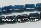 CAP69 15.5 inches 10*14mm rectangle dyed apatite gemstone beads