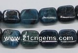 CAP72 15.5 inches 12*12mm square dyed apatite gemstone beads wholesale