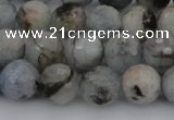 CAQ421 15.5 inches 8mm faceted round natural aquamarine beads