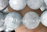 CAQ850 15.5 inches 10mm faceted round aquamarine beads wholesale