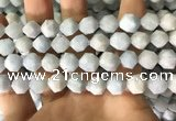 CAQ855 15.5 inches 10mm faceted nuggets aquamarine beads wholesale