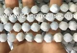 CAQ856 15.5 inches 12mm faceted nuggets aquamarine beads wholesale