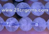 CAQ886 15.5 inches 6mm faceted round natural aquamarine beads