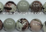 CAR07 15.5 inches 16mm round artistic jasper beads wholesale