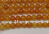 CAR101 15.5 inches 4mm round natural amber beads