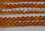 CAR105 15.5 inches 3mm round natural amber beads