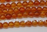 CAR106 15.5 inches 4mm round natural amber beads