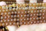 CAR234 15.5 inches 6mm - 7mm round natural amber beads wholesale