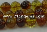 CAR502 15.5 inches 8mm - 9mm round natural amber beads wholesale