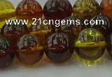 CAR504 15.5 inches 10mm - 11mm round natural amber beads wholesale