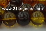 CAR506 15.5 inches 14mm - 15mm round natural amber beads wholesale