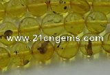 CAR522 15.5 inches 7mm - 8mm round natural amber beads wholesale