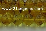CAR523 15.5 inches 8mm - 9mm round natural amber beads wholesale