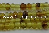 CAR536 15.5 inches 3*5mm rondelle natural amber beads wholesale