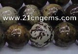 CAR56 15.5 inches 16mm round yellow artistic jasper beads