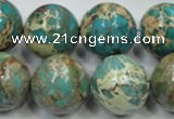 CAT04 15.5 inches 20mm round natural aqua terra jasper beads